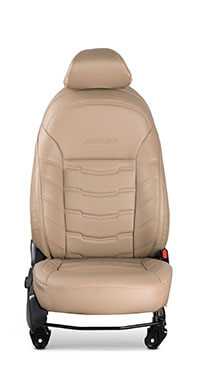 Honda Amaze-Seat Cover Horizontal Stitch With Black Piping