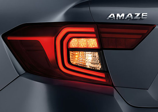 Honda Amaze Interior - Rear Parking Camera & Sensors