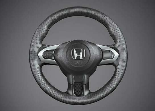 Honda Brio - Steering Wheel Cover Perforated Black