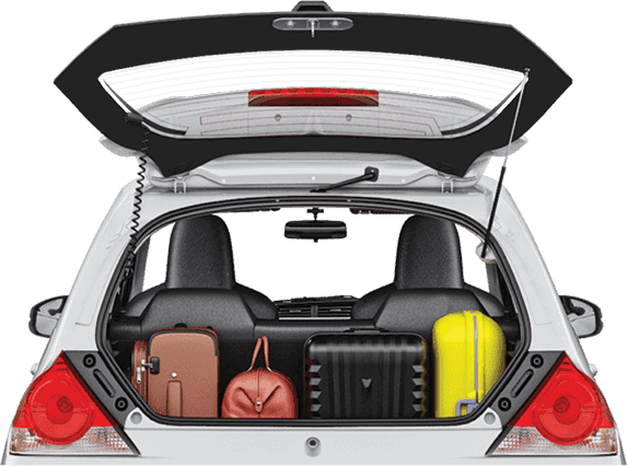Honda brio- Spacious Boot