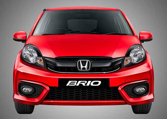 Honda Brio-High Gloss Black and Chrome Sporty Front Grille