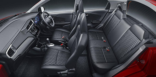 Honda Brio-Sporty Black Interior