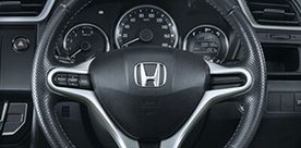 Honda-BRV-leather wrapped steering wheel
