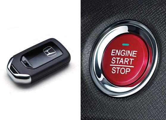 Honda-BRV-Push start/stop with smart entry