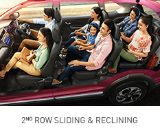 Honda-BRV-RECLINING 2ND ROW