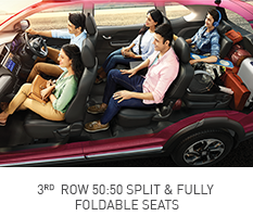 Honda-BRV-FOLDABLE SEATS 3RD ROW 50:50 SPLIT