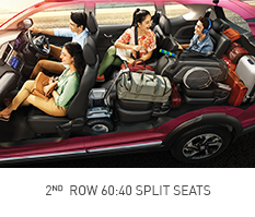 Honda-BRV-2ND ROW SEAT WITH 60:40 SPLIT
