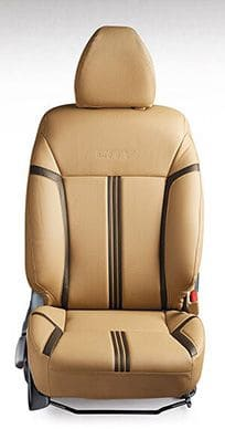 Honda-City-Seat Cover PVC Beige with Black Stripes