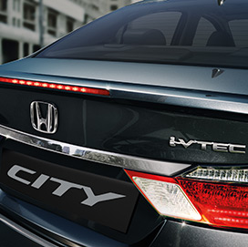 Honda City Exterior - Trunk Lid Spoiler with LED Stop Lamp