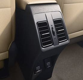 Honda City Interior - Rear AC Vent with Charging Ports