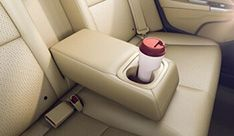 Honda City Interior - Rear Armrest Cup Holders