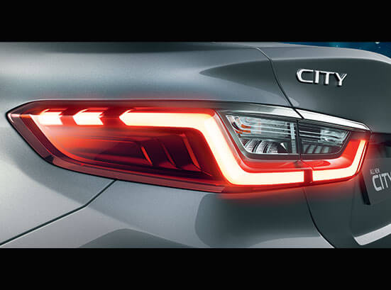 New Honda City 2020 Exterior - Z-Shaped 3D Wrap Around LED Tail Lamps