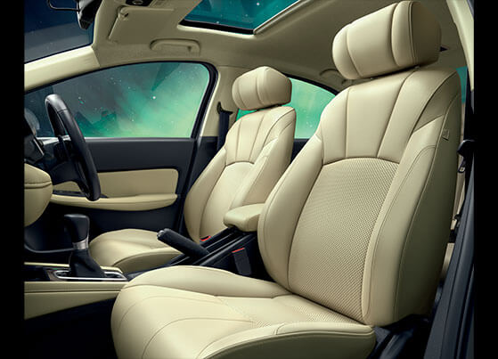 New Honda City 2020 Interior - Contemporary Seat Design with Premium Leather Upholstery