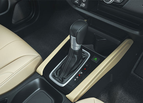 New Honda City 2020 Interior - Leather Shift Knob & Real Stitch Soft Touch Knee Pad