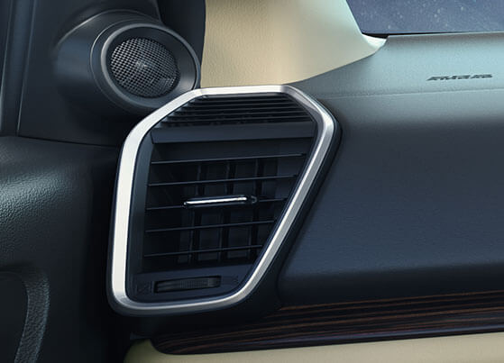 New Honda City 2020 Interior - Satin Metallic AC Vent Surround Finish