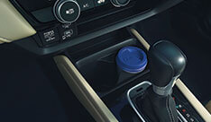 New Honda City Space & Utility - Front Console Cup Holders