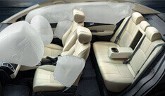 New Honda City Car Safety - 6 Airbags System (Dual Front I-SRS^ Airbags, Front Seats I-Side Airbags & Side Curtain Airbags)