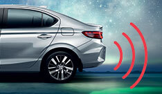 New Honda City Car Safety - 4 Rear Parking Sensors