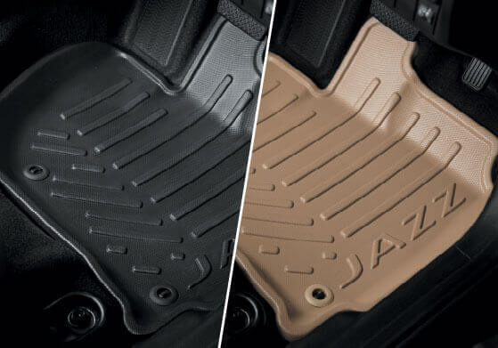 New Honda Jazz Accessory - Bucket Mat (Black/Beige)