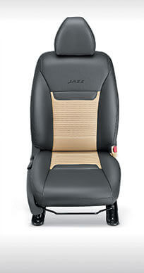 Honda Jazz-KIT Seat Cover Fabric : Beige with PVC inserts
