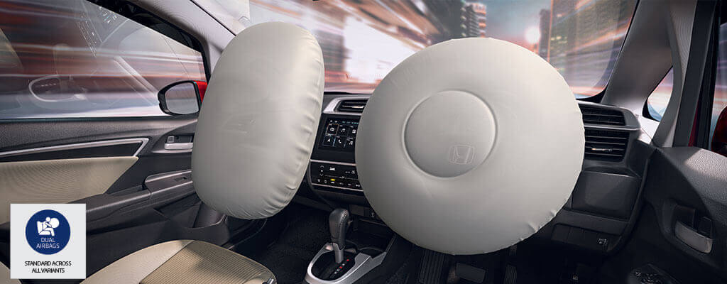 New Honda Jazz Car Safety - Dual Front SRS Airbags (Driver & Passenger)