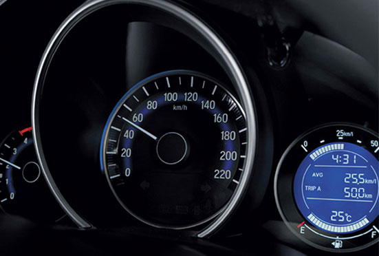 Honda WRV New Model Interior - Advanced Multi Information Combimeter with Eco Assist Ambient Rings