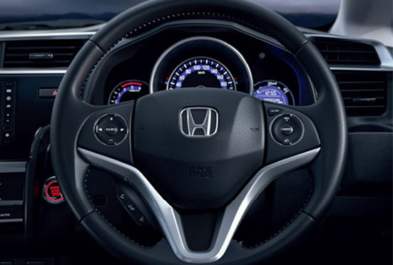 Honda WRV New Model Interior - Action-Packed Steering Wheel (Audio, Voice, Handsfree & Cruise Control Switches)