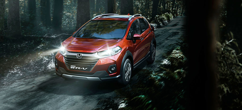 New Honda WRV car on road in Forest