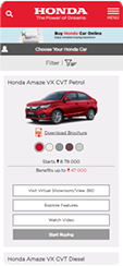 Buy a New Honda Car Online from Mobile Device