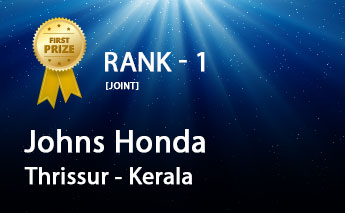 Honda Cars President's Award 2019 Top Performer - Johns Honda, Thrissur - Kerala