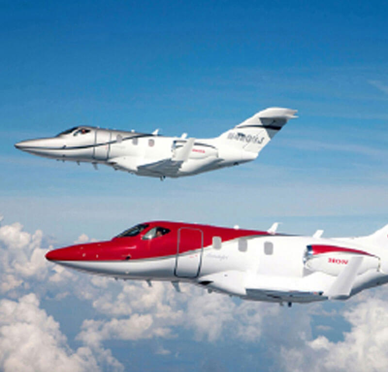 Side View of Flying Two Hondajet