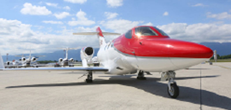 Front View Red Hondajet