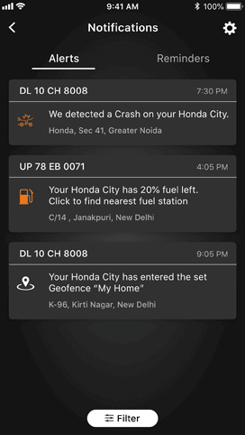 Honda Connect Safety and Security Feature - Auto Crash Notification