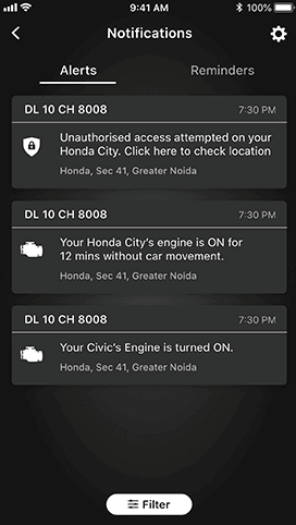 Honda Connect Safety and Security Feature - Unauthorized Access Alert