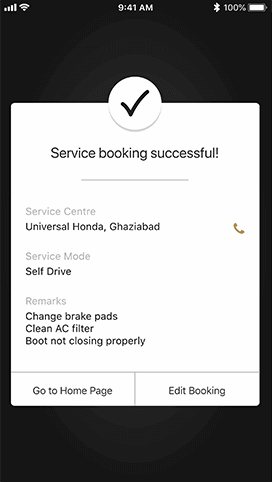 Honda Connect Peace of Mind Feature - Service Scheduler