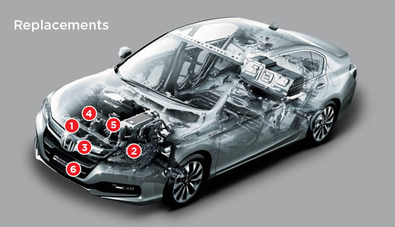 Replacements During Honda Car Periodic Maintenance Service