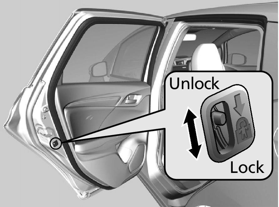 Childproof Door Locks Jazz 2016 Honda