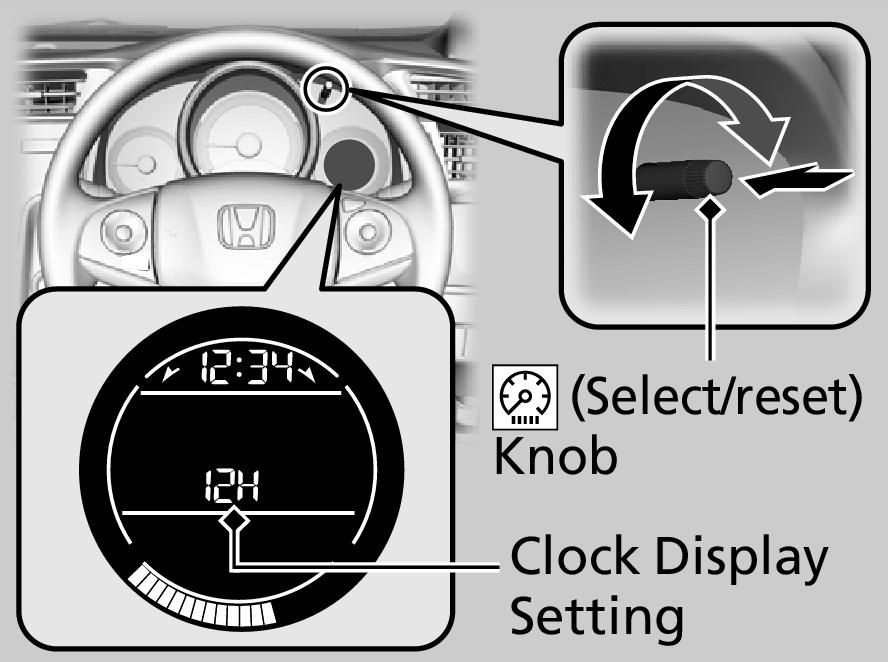 Adjusting the Clock | JAZZ 2016 | Honda