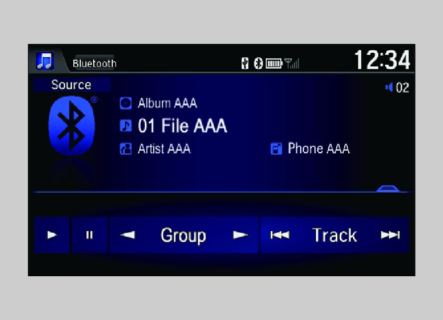 Playing Bluetooth® Audio(Models with display audio system)   JAZZ on speaker audio, coaxial audio, sony audio, headset audio, multimedia audio, cd audio, cable audio, set clock pioneer car audio, dvi audio,