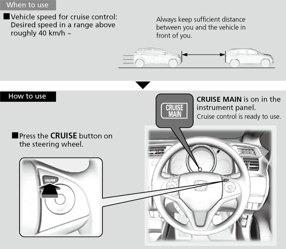 WARNING: Improper use of the cruise control ...