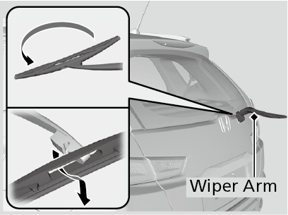 Changing the rear wiper blade rubber wr v 2017 honda slide freerunsca Gallery
